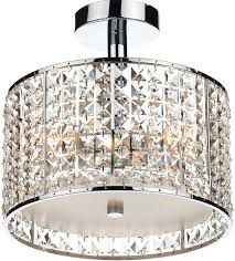 dar rhodes chrome 3 light semi flush bathroom light