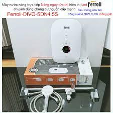 Máy nước nóng Ferroli Divo SDP4.5S có bơm màn hình LED hiển thị nhiệt độ,  Bình nước nóng trực tiếp Ferroli Divo SDN4.5S chính hãng 1,932,000đ