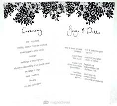 Program Wedding Ceremony Order Of Events Template Event Half