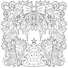 Mindfulness Colouring Pages Christmasll