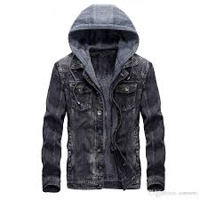 mens hooded denim jacket winter coats jeans jackets for man thicker warm outwear overcoat tops brand joobox xl l new arrival mens style jackets jaket for