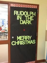 Funny Rudolph the Red Nose Reindeer Christmas Door Decoration Ideas (Tech  Office Doors)