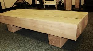 oak beam coffee table 3 beam top
