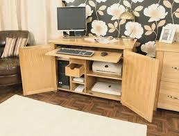 aston solid oak hidden. Aston Oak Hidden Home Office (Tesco) Solid L