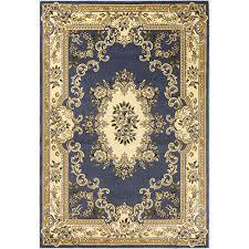 kas oriental rugs corinthian blue aubusson rectangular 20 in x 31 in rug