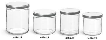 clear glass jars clear straight sided glass jars w silver metal lug caps