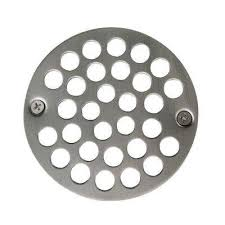 o d shower strainer cover plastic oddities style in satin nickel