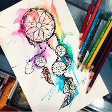 Colorful Dream Catcher Tumblr creative drawing ideas for teenagers tumblr Google Search 17