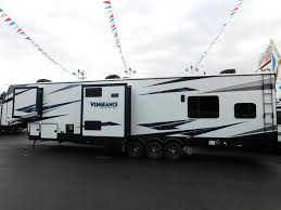 2019 forest river vengeance touring 381l12 6 travel in style with vengeance this triple slide toy hauler 5th wheel