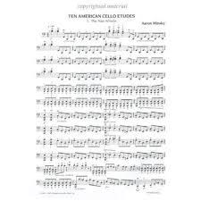 Minsky, Aaron - Ten American Cello Etudes - Cello solo - Oxford University  Press   SHAR Music - sharmusic.com