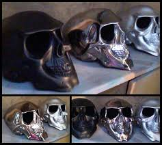 motorcycle helmets chrome skull novelty motorcycle helmet