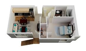 43 1 bedroom small house plan