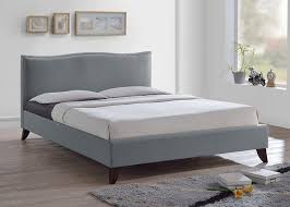 modern upholstered bed. Amazon.com: Baxton Studio Battersby Grey Linen Modern Upholstered Bed, Queen: Kitchen \u0026 Dining Bed