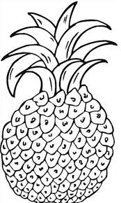 Small Picture Free Printable Pineapple Coloring Pages For Kids