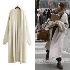 autumn loose bat sleeves big size long trench coats women new knitting clothing