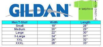 Gildan Sweatshirt Size Chart Gildan Size Chart Mens Custom Kicks From Chef Of
