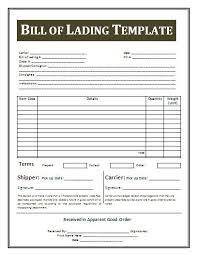bill of lading printable form printable sample bill of lading template form real estate forms