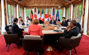 the g7 country leaders meet at a round table for discussion photo by arron e