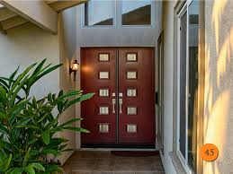 Modern 30 inch Fiberglass Double entry doors 2-30x80 in 5 Foot Wide entrance .