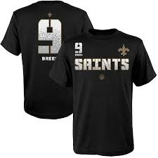 Sleeve 9 No Name Youth Short Orleans Drew amp; Co-vert Saints Ops Brees Black Number T-shirt New