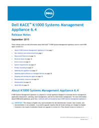 Fillable Online Dell Kace K1000 Systems Management Appliance 64