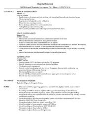 System Admin Resume Samples Velvet Jobs