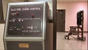 modern electric chair. tennessee has a (relatively) new, modern, computerized electric chair. modern chair
