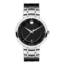 movado watches ladies men s movado designer watches ernest jones movado 1881 men s stainless steel black dial bracelet watch product number 3572110