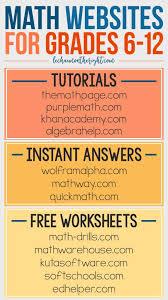best algebra images teaching math math teacher math websites for grades 6 12 great for homeschool math stem