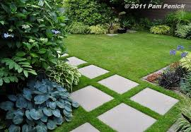 concrete grass pavers. Garden Pavers | With Geometric Contemporary Style A Concrete Paver Path Set In Grass