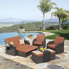 Sedona Seating Set Cushioned Wicker Sunbrella Outdoor Patio Garden