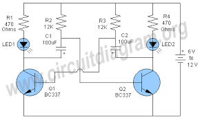 flip flop led flashing circuit circuit diagram 12 Volt Flasher Circuit Diagram flip flop led flashing circuit related circuits 12 volt led flasher circuit diagram