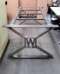 industrial metal furniture. modern industrial dining table legs with builded metal furniture
