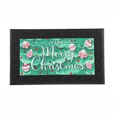 Evergreen Merry Christmas 30 in. x 18 in. <b>LED</b> Music <b>Rubber</b> Floor ...