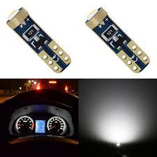 <b>10 PCS</b> Car Interior <b>T5</b> Led 1 <b>SMD</b> DC 12V 24V Bulbs Light <b>Ceramic</b> ...