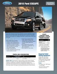 Ford Explorer Towing Capacity Chart 2010 Ford Escapre Towing Guide Specifications Capabilities