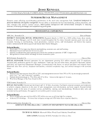 Retail Management Skills For Resume Free Resume Example And