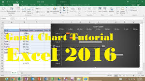 Gantt Chart Excel 2016 Tutorial How To Make A Gantt Chart In Excel 2016