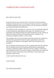 Template Letter To School Parent Teacher Councils