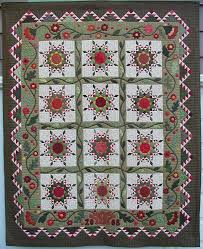448 best Red & green quilts images on Pinterest | Green comforter ... & Red and green feathered stars with appliqued inner border: Piecemakers Quilt  Guild, 2008 opportunity Adamdwight.com