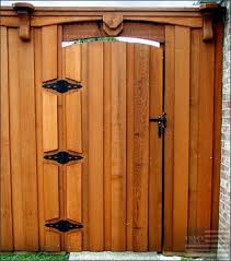 gates side gatesgate hardwarewooden
