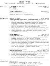 sample resume for investment banking sample investment banking resume