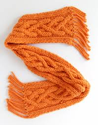 Cable Knit Scarf Pattern Cool Quad Cable Knit Scarf Pattern AllFreeKnitting