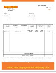 Invoice Proforma Template Shipping By1073 Resume Temp Sample Excel