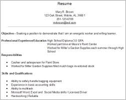 Basic Job Resume Examples Gorgeous Gallery Of First Job Resume Examples Resume Badak Examples Of