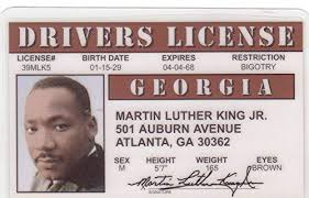 Dr I d com Identification Luther Martin Rights amp; Fake Novelty King Amazon License Civil Games For Jr Drivers Fans Toys