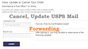 update or cancel usps mail forwarding