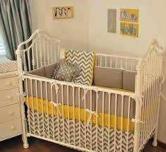yellow and gray baby room image of grey chevron bedding designs nursery white full size