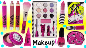 barbie makeup collection lip crayons beauty book filled with eyeshadow lip balm fake kins