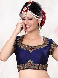 Designer Blouse Online Shopping With Price Navy Raw Silk Designer Ready Made Blouse For Price Or Detail
